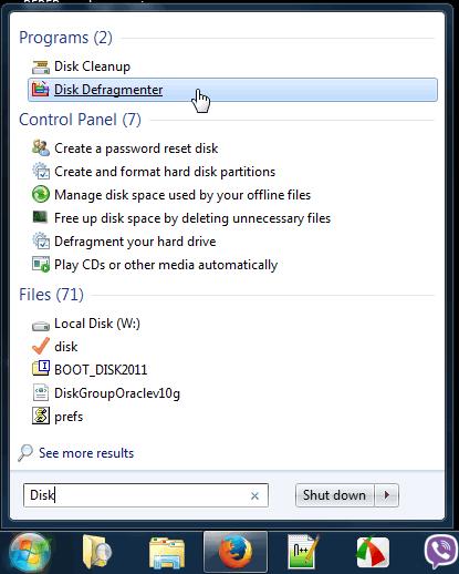 Defregmentacija diskova