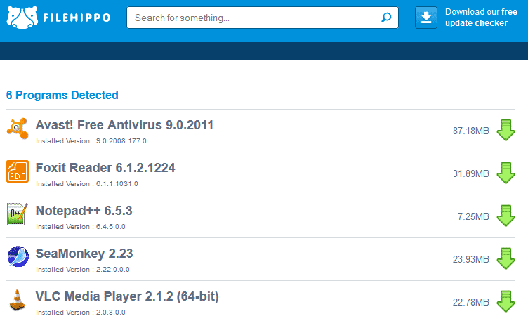 Ažuriranje instaliranih programa novijim verzijama