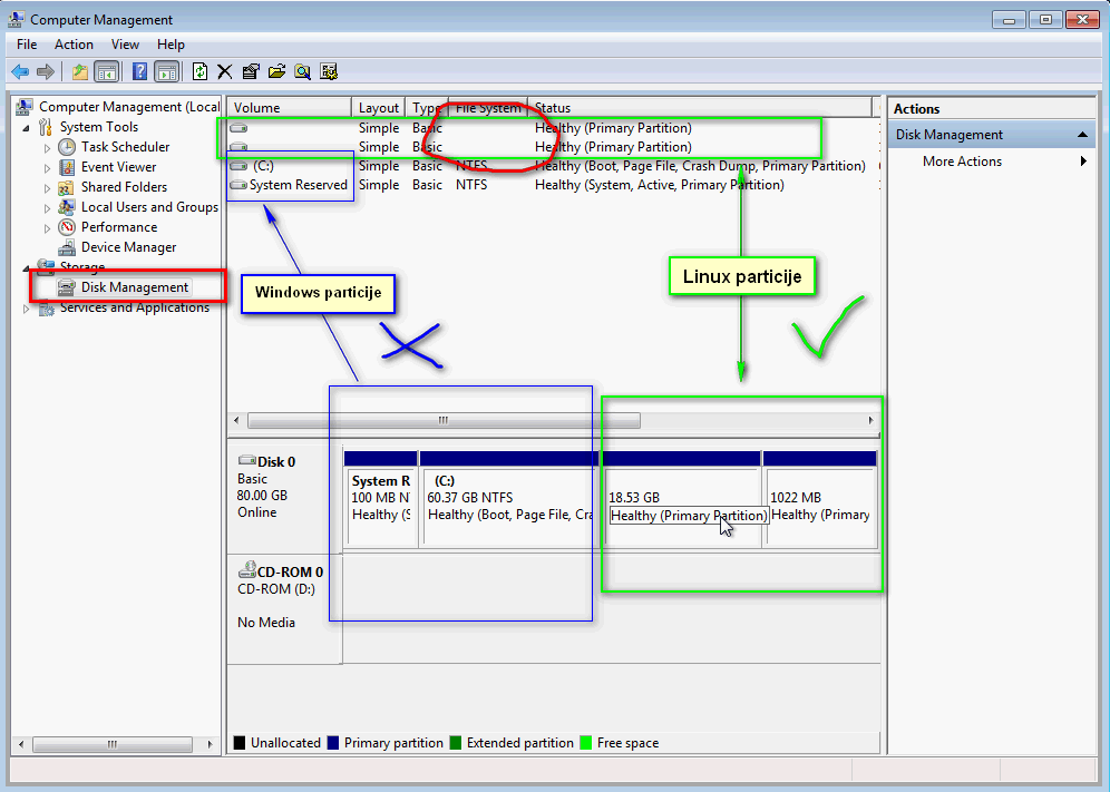 Kako deintalirati Linux iz dual-boot rezima sa Windowsom 02
