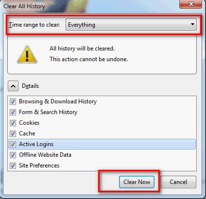Чишћење сачуваних лозинки, кеша и свега осталог на Mozilla Firefox претраживачу