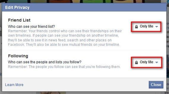 Zabrana pregleda liste mojih prijateljav02