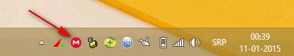 Иконица у System Tray-u се вратила у првобитно стање што је знак да се више ништа не синхронизује, односно да је процес синхронизације завршен