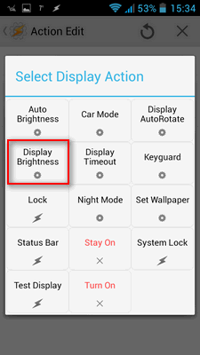 Kad ste kliknuli u prethodnom koraku na kvačiu, otvorilo vam se polje Task - tu kliknite na plus, pa na Displej pa na Display Brightness
