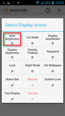 Isto idite na plus, Display - ali ovog puta na Display Autobrightness pa podesite na ON iz padajućeg menija