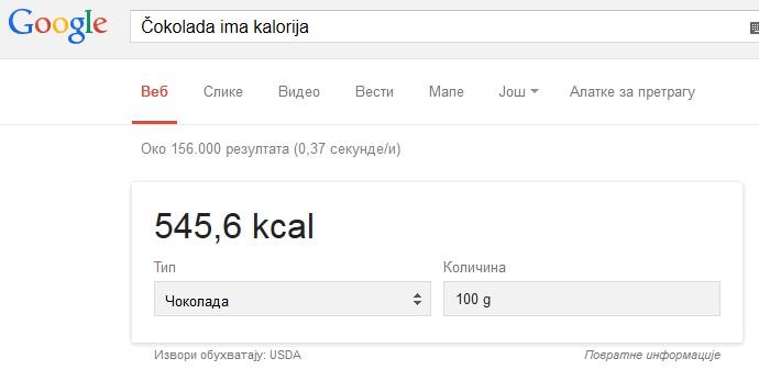 Гугл Kalorije