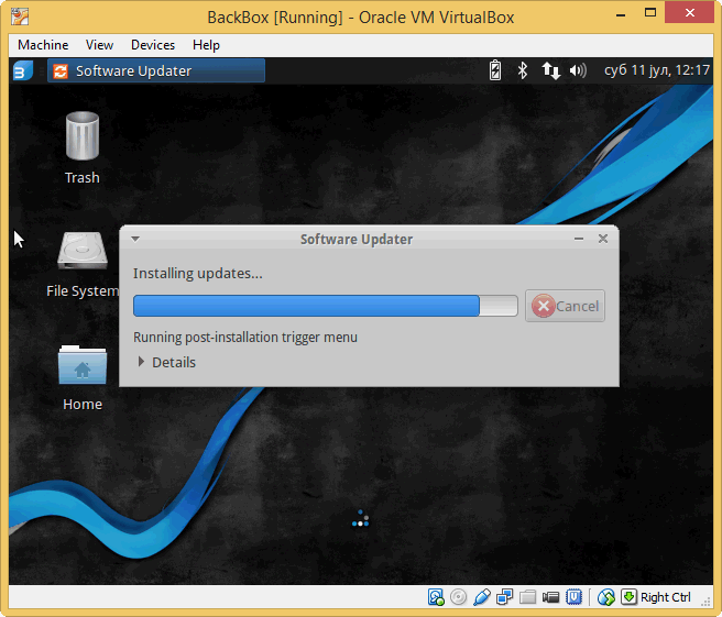 VirtualBox i BackBox instalacija