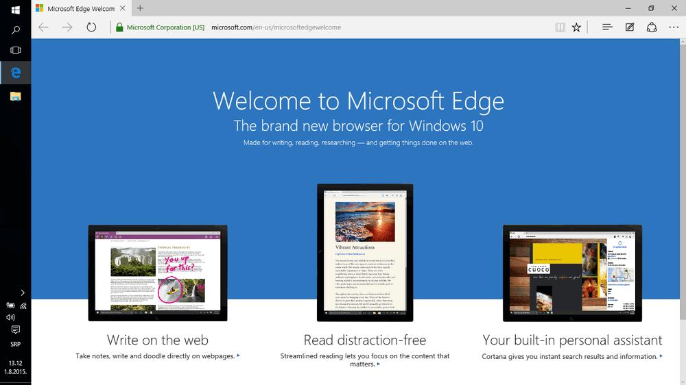 Microsoft Edge izgled