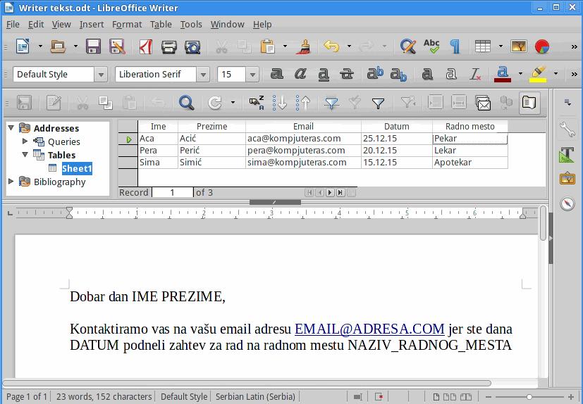 Writter text