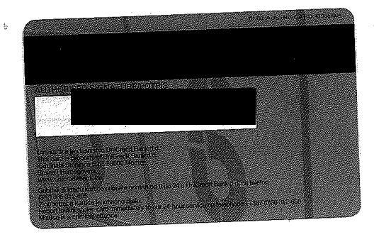 Kreditna kartica - druga strana