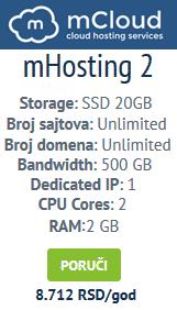 mCloud hosting
