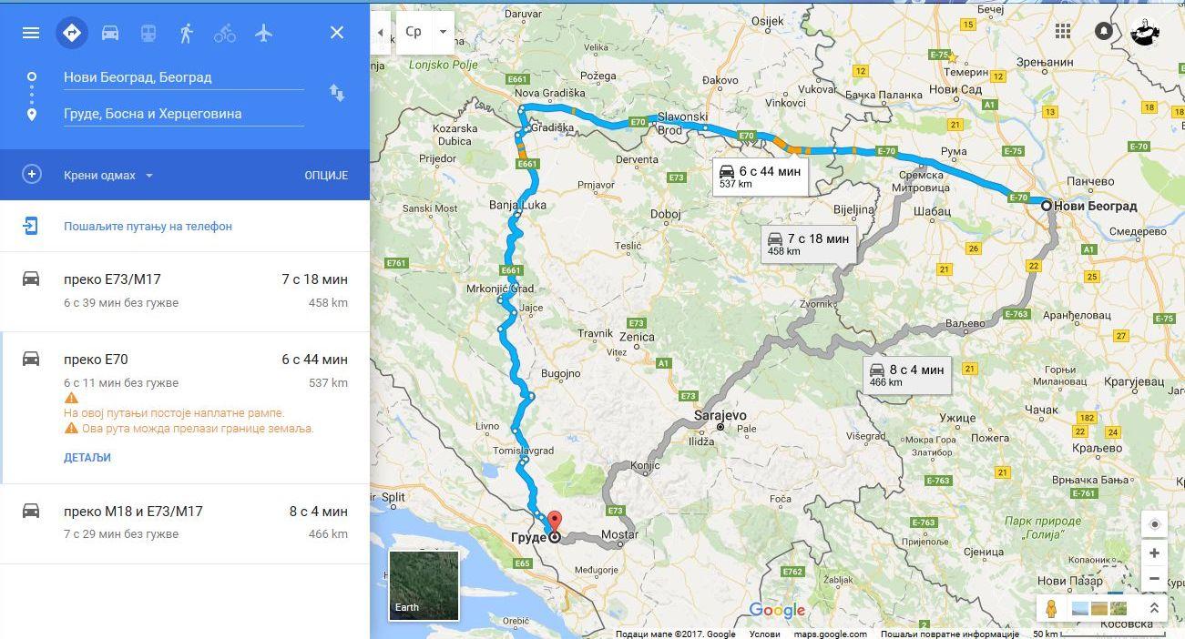 google mapa beograda Utisci o korišćenju Google Maps navigacije na relaciji Beograd  google mapa beograda